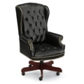 Cambridge Collection Wingback Executive Chair in Leather, 55570