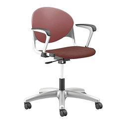 Plastic Back Task Chair with Platinum Metallic Frame, 56242