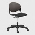 Plastic Back Armless Task Chair with Black Frame, 56243