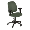 Heavy-Duty Fabric Task Chair with Arms, 56313