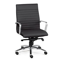 Harper Faux Leather Conference Chair, 56622