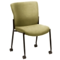 Live II Armless Stack Chair with Casters, 56761