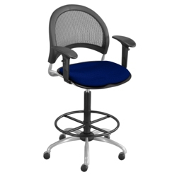 Moon Drafting Stool with Arms, 56807