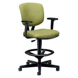 HON Volt Vinyl Stool with Arms, 56926
