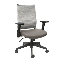 Flip Arm Fabric Back Task Chair with Polyurethane Seat, 57153