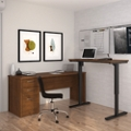 Reversible L-Desk with Adjustable Height Return, 14703