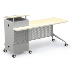 Mobile Instructors Station with Left Desk, 60893