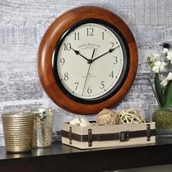 "Solid Wood 11"" Wall Clock, 86431"