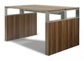 "Standing Height Conference Table with Metal Accents - 72""W x 48""D, 14871"