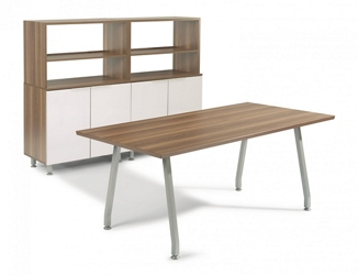 "72""W Desk with Storage, 14648"