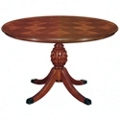 "Checkerboard Veneer Round Conference Table - 42"" DIA , 41892"