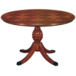 "Checkerboard Veneer Round Conference Table - 48"" DIA , 41893"