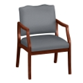 Spencer Arm Chair in Solid Fabric 400lb Weight Capacity, 75001