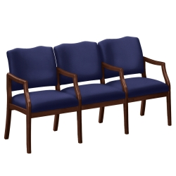 Three Seater with Center Arms in Solid Fabric, 75004