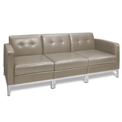 Faux Leather Sofa 75198