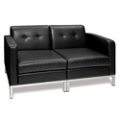 Faux Leather Loveseat, 75199