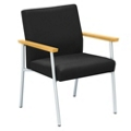 Uptown Oversized Guest Chair 400 lb. Capacity in Standard Fabric, 75215