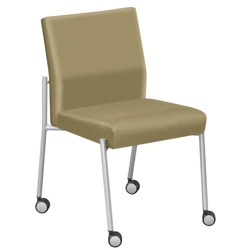 Uptown Guest Chair with Casters in Standard Fabric, 75256