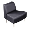 Outside Curved Guest Chair in Fabric, 75280