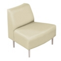 Outside Curved Guest Chair in Vinyl, 75295
