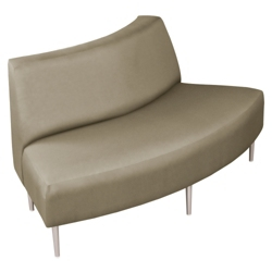 Outside Curved Loveseat in Fabric, 75282