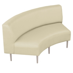Inside Curved Loveseat in Vinyl, 75298