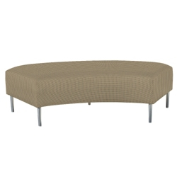 Curved Two-Seat Bench in Fabric, 75285