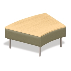 Wedge End Table with Fabric Sides, 75286
