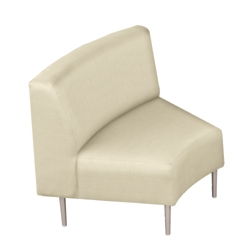 Inside Curved Guest Chair in Vinyl, 75296
