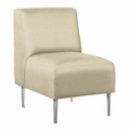 Armless Club Chair in Vinyl, 75303