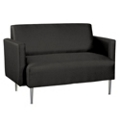 Contemporary Loveseat in Vinyl, 75313