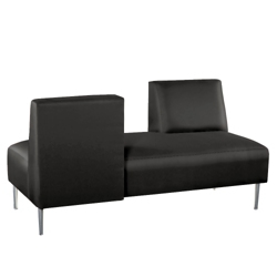 Armless Lounge Sofa with Opposing Backs in Vinyl, 75315