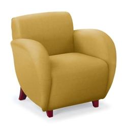 Curve Club Chair in Vinyl, 75363