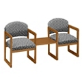 Premium Upholstered Two Chairs with Center Table, 75418
