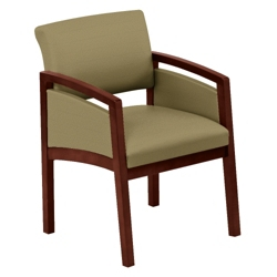 New Castle Fabric Panel-Arm Guest Chair, 75451
