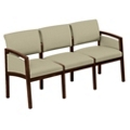 New Castle Fabric Three Seat Panel Arm Sofa, 75452