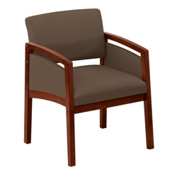 New Castle Oversized Vinyl Panel-Arm Guest Chair, 75453