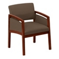 Oversized Vinyl Panel-Arm Guest Chair, 75453