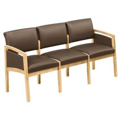 New Castle Vinyl Three Seat Panel-Arm Sofa, 75455