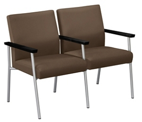 Uptown Two-Seater with Center Arm in Premium Upholstery, 75476