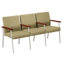 Uptown Three-Seater with Center Arms in Premium Upholstery, 75478