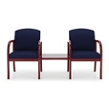 Two Fabric Guest Chairs with Center Table, 75504