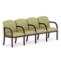 Four Seat Vinyl Sofa with Center Arms, 75512