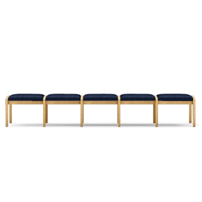 Five Seat Bench In Fabric, 75532