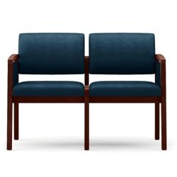 New Castle Vinyl Two Seat Panel-Arm Sofa, 75534
