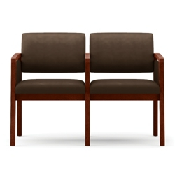 New Castle Vinyl Two Seat Panel Arm Sofa with Center Arm, 75535