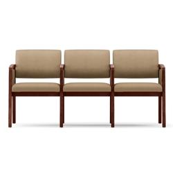New Castle Vinyl Three Seat Panel Arm Sofa with Center Arm, 75536