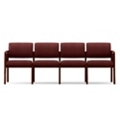 Vinyl Four Seat Panel-Arm Sofa, 75537