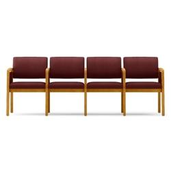 Vinyl Four Seat Panel Arm Sofa with Center Arm, 75538