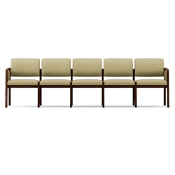 New Castle Vinyl Five Seat Panel Arm Sofa, 75539
